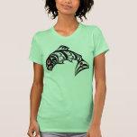 Salmones del noroeste del arte del Haida de la Cos Camiseta