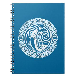Salmones en nieve spiral notebooks