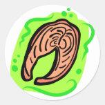Salmones Etiqueta Redonda
