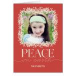 Salmones florales pacíficos de la tarjeta de felic