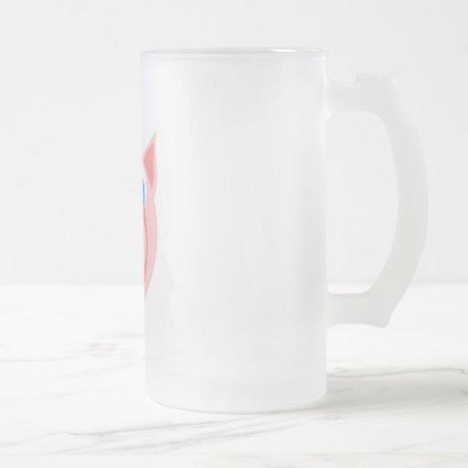 Salmones guarros taza de cristal