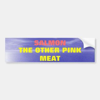 Salmones la otra carne rosada pegatina para auto