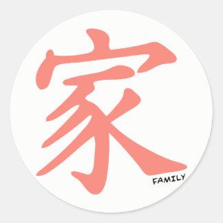 Salmones, muestra china de la familia del pegatina redonda