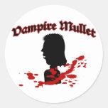 Salmonete del vampiro etiquetas redondas