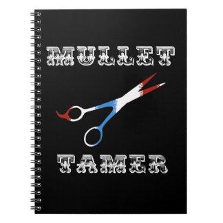 salmonete divertido del peluquero del vintage más spiral notebooks