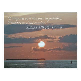 Salmos 119-105 tarjeta postal