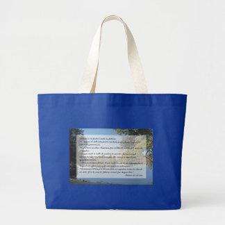 Salmos 23 (Bolsa) Large Tote Bag
