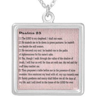 Salmos 23 colgante cuadrado