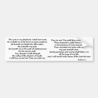 Salmos 23 etiqueta de parachoque