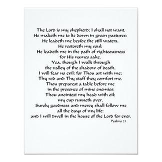 """Salmos 23 invitación 4.25"""" x 5.5"""""""