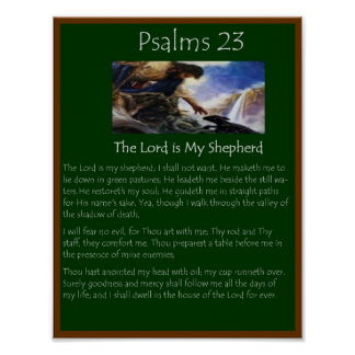 salmos 23 impresiones