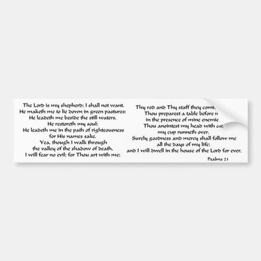 Salmos 23 pegatina para auto