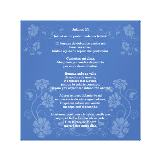 Salmos 23 - Psalm 23, Canvas Print