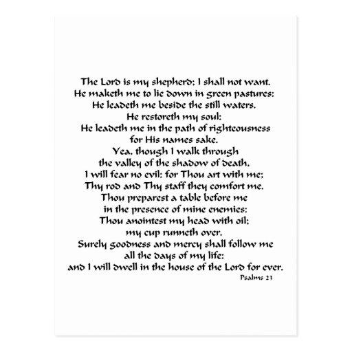 Salmos 23 tarjetas postales