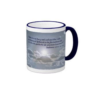 Salmos 27:1 con el Cielo Coffee Mug