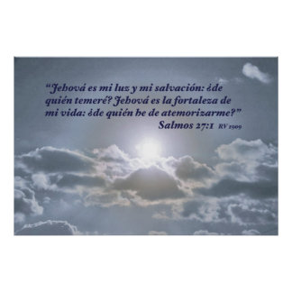 Salmos 27:1 con el Cielo Poster