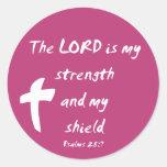 Salmos 28: El señor es mi fuerza y escudo Etiqueta Redonda