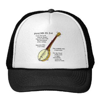 SALMOS 33: Paise el señor con el banjo Gorras