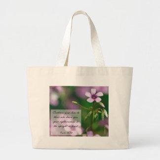 Salmos - la bolsa de asas rosada del alazán de mad