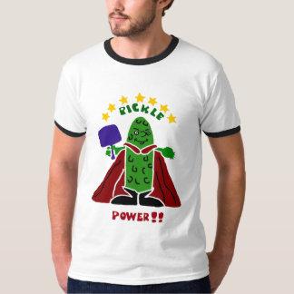 Salmuera divertida del superhéroe de Pickleball Polera