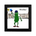Salmuera que juega arte del primitivo de Picklebal Cajas De Joyas