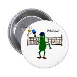 Salmuera que juega arte del primitivo de Picklebal Pins