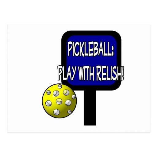Salmuera y una bola redonda: ¡Juego con el condime Tarjeta Postal