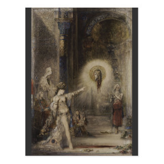 Salome and Apparition Gustave Moreau Watercolor Postcard