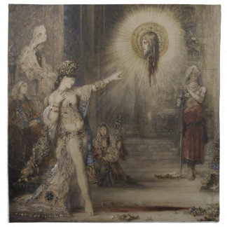Salome and the Apparition by Gustave Moreau Napkin