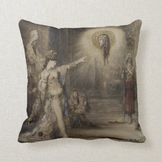 Salome and the Apparition by Gustave Moreau Throw Pillow