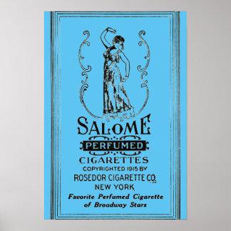 Salome Cigarettes Ad Poster