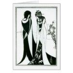 Salome con su madre, Herodias, 1894 (litho) (b Tarjeton