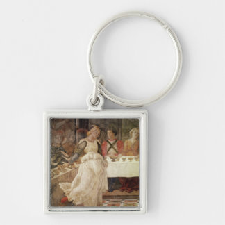 Salome dancing at the Feast of Herod Keychain