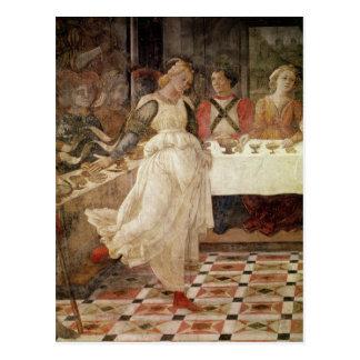 Salome dancing at the Feast of Herod Postcard