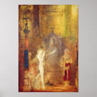 Salome dancing before Herod, c.1876 Poster