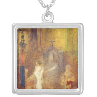 Salome dancing before Herod, c.1876 Silver Plated Necklace