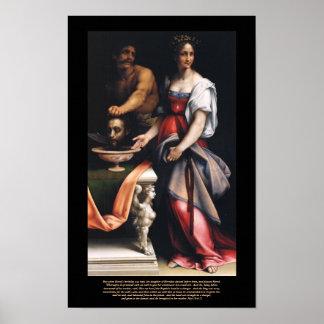 Salome - lona de la obra maestra de Cesare da Sest Posters