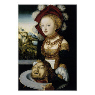 Salome With Head of John Baptist Poster
