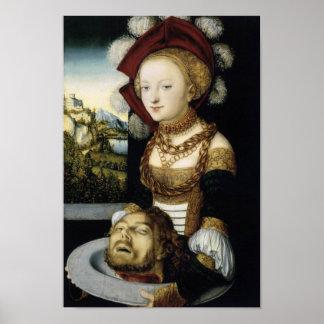 Salome With Head of John Baptist Print