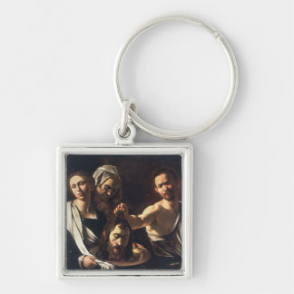 Salome With Head of John The Baptist - Caravaggio Keychain