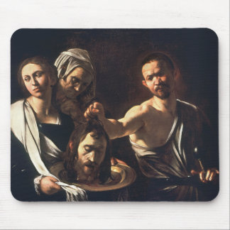 Salome With Head of John The Baptist - Caravaggio Mouse Pads