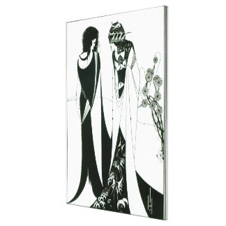 Salome with her mother, Herodias, 1894 (litho) (b/ Canvas Print