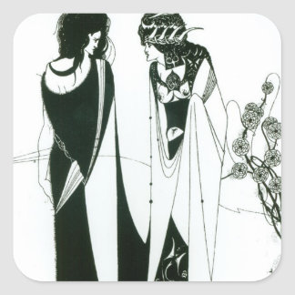 Salome with her mother, Herodias, 1894 (litho) (b/ Square Sticker