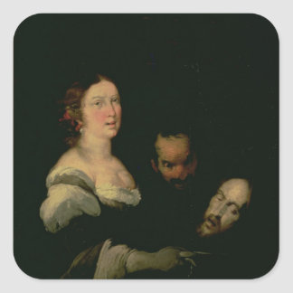Salome with the head of St. John the Baptist Square Sticker