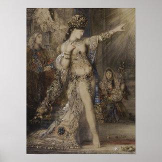 Salome y detalle de la aparición de la acuarela de posters