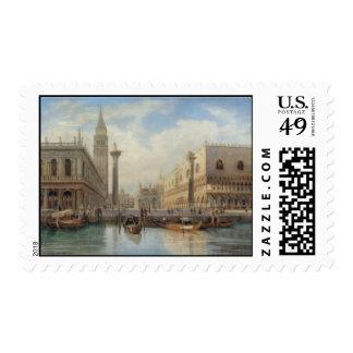 Salomon Corrodi, La Piazza San Marco Venice Stamp
