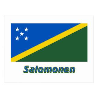 Salomonen Flagge mit Namen Postcard
