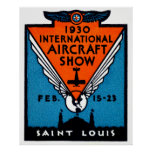 Salón aeronáutico 1930 de St. Louis Posters