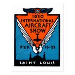 Salón aeronáutico 1930 de St. Louis Tarjetas Postales