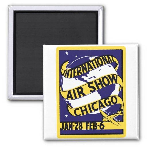Salón aeronáutico 1938 del International de Chicag Imán Cuadrado